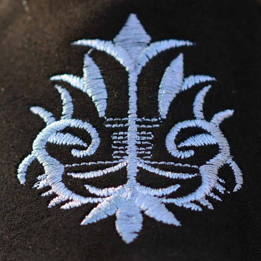 Embroidered With Grey Motif