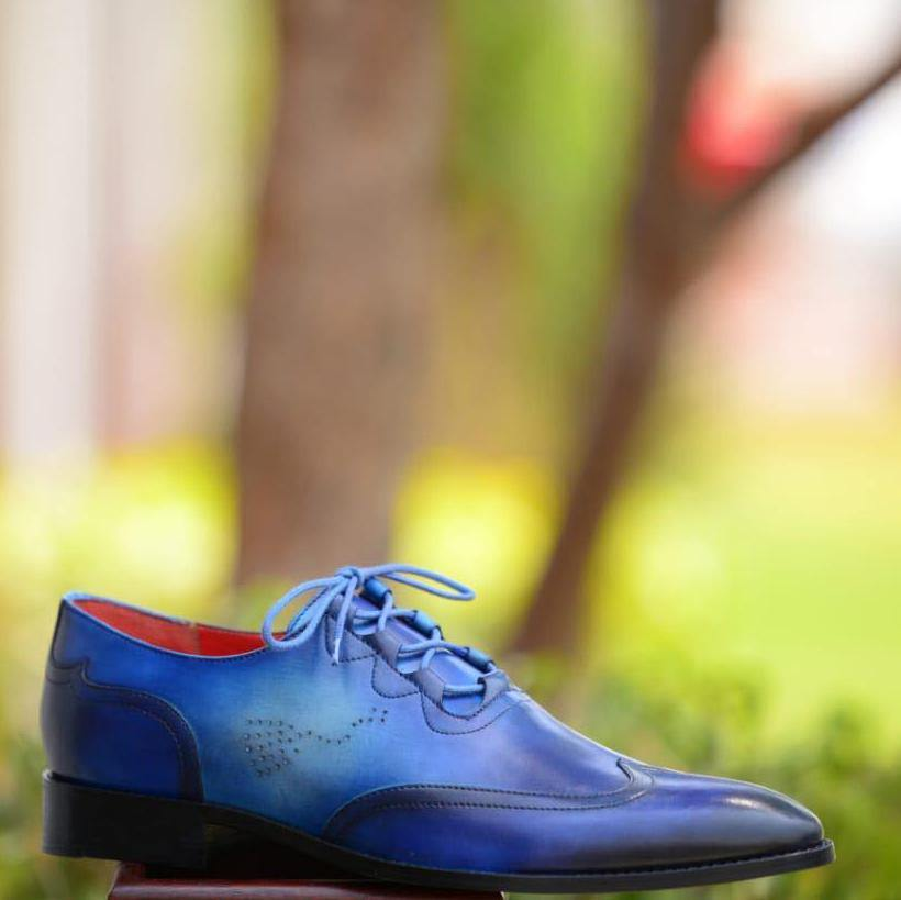Ghillie Lace Up Wing Tip Shoe