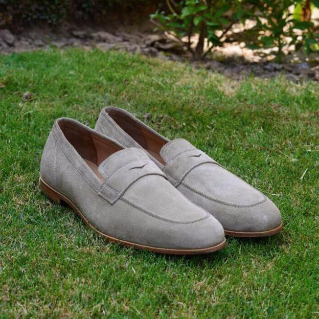 Dario Loafer In Grey Suede