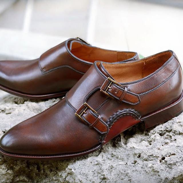 Opanka Monkstrap in brown