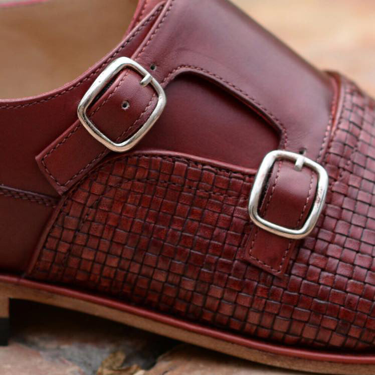 Woven Leather Double Monkstrap A2