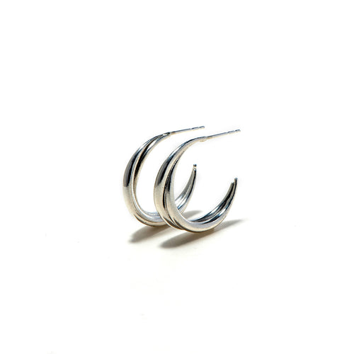 Lon silver earrings-M