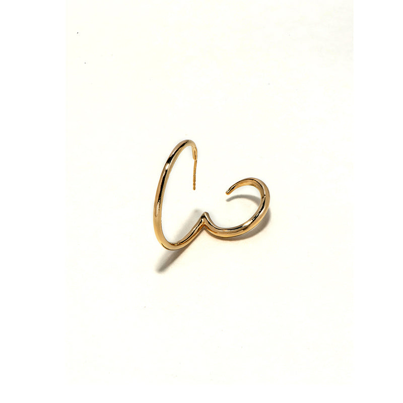 Cycle earring gold plated - Goldy jewelry store