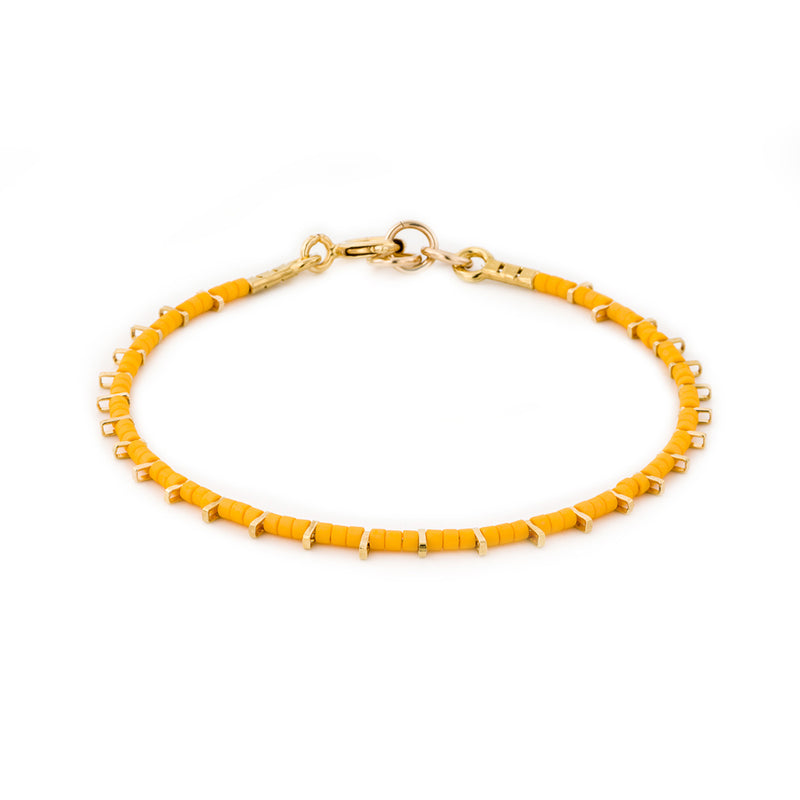 Gold plated single bracelet - Goldy jewelry store