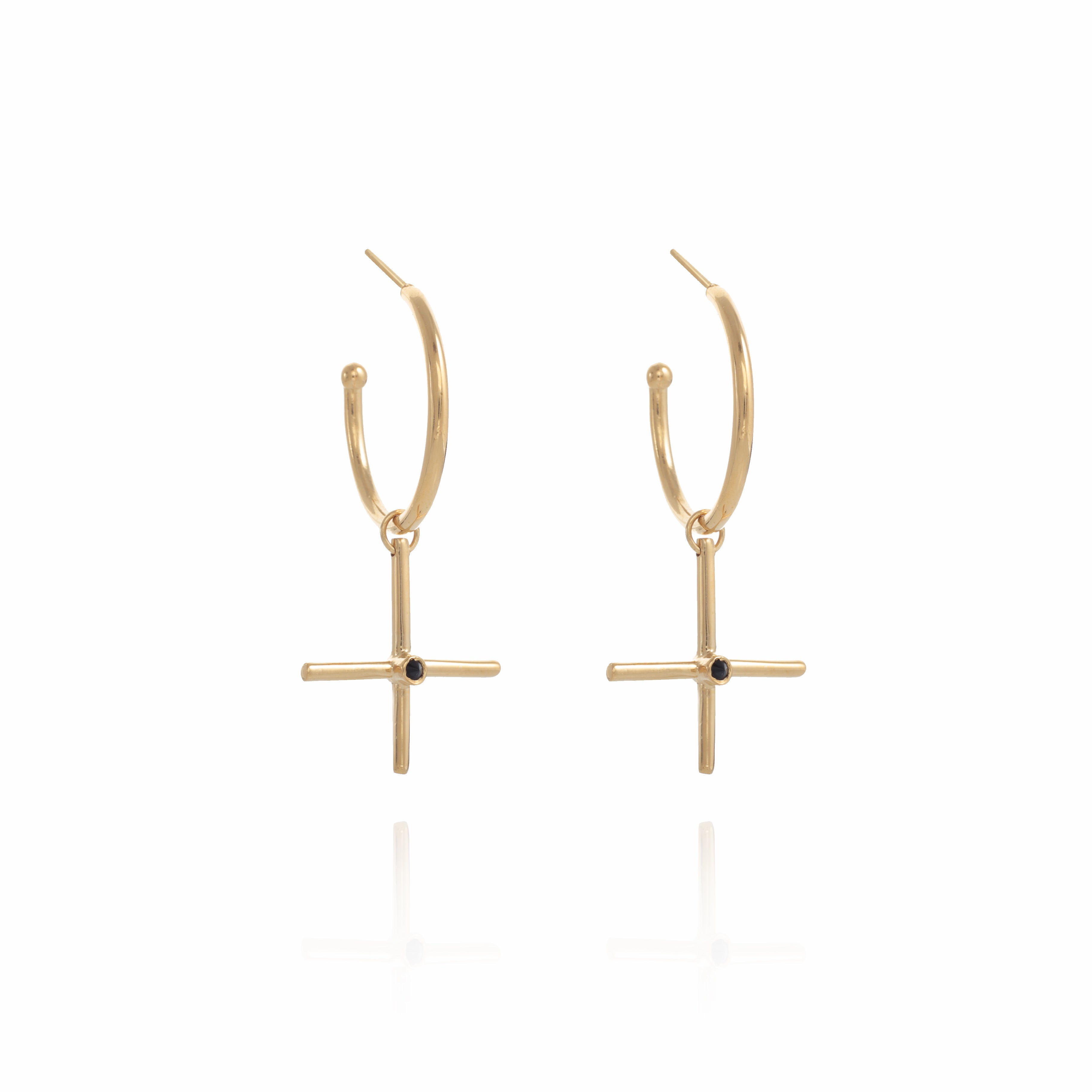 XL Gold plated Gipsy Plus  Earring