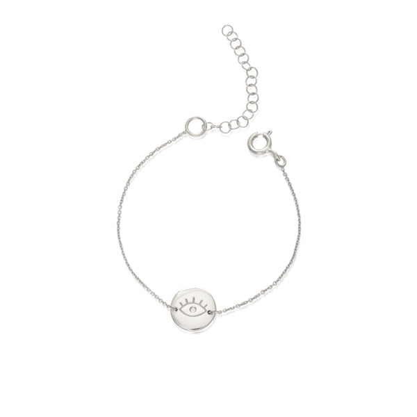 EYE small silver bracelet - Goldy jewelry store