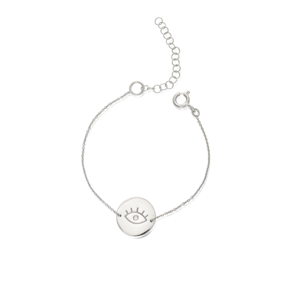 EYE medium silver bracelet - Goldy jewelry store