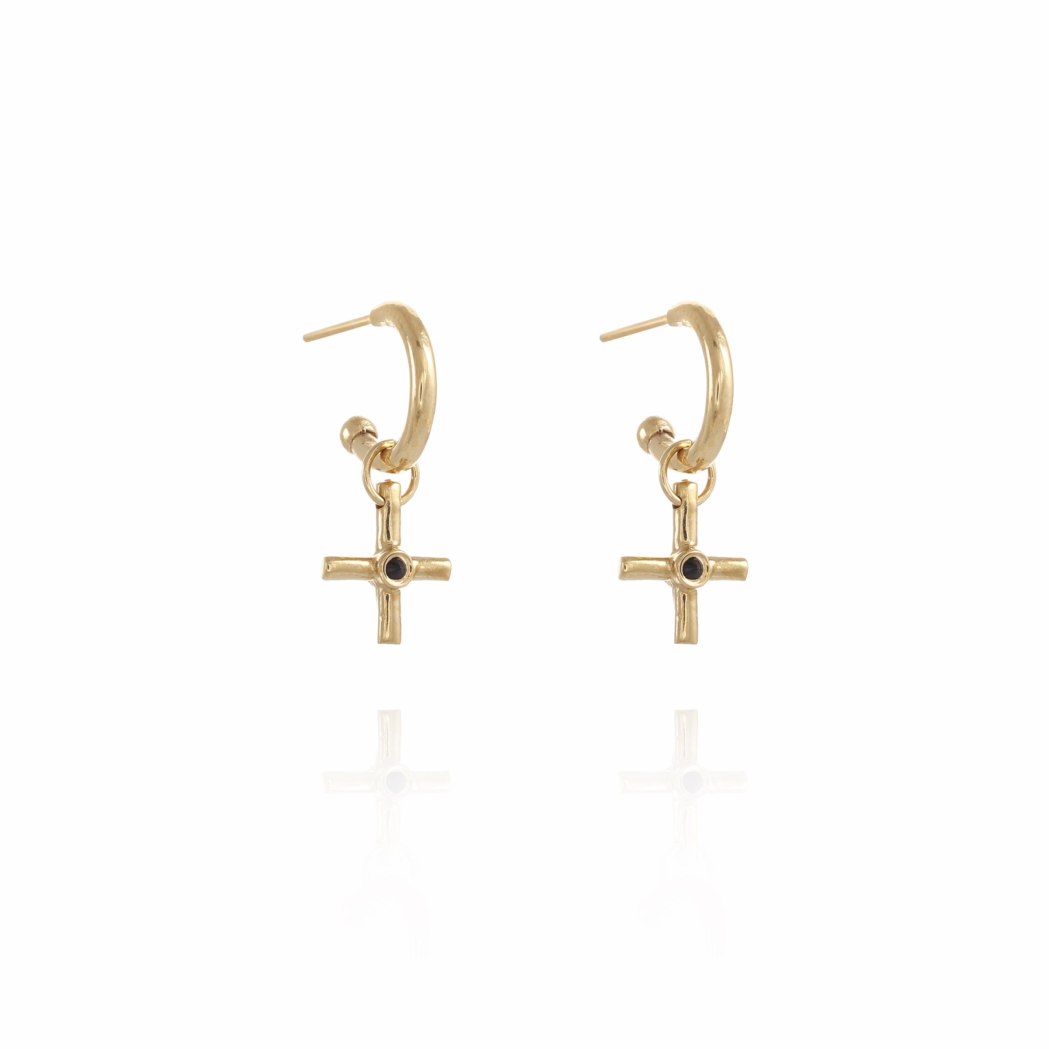 S Gipsy Plus gold plated Earring