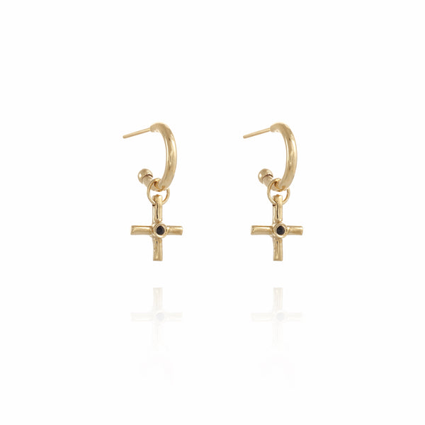 S Gipsy Plus gold plated Earring - Goldy jewelry store