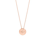 EYE small gold plated necklace - Goldy jewelry store