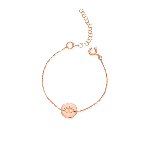 EYE small gold plated bracelet - Goldy jewelry store