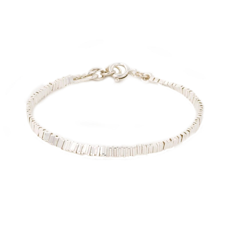 Silver stripes bracelet - Goldy jewelry store