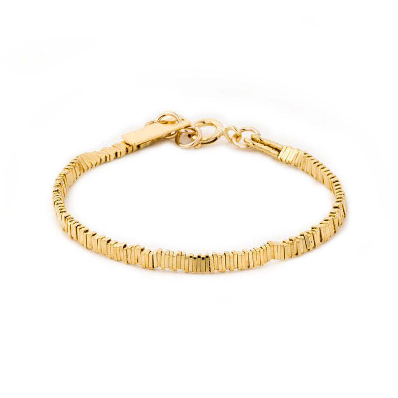 Gold plated stripes bracelet - Goldy jewelry store