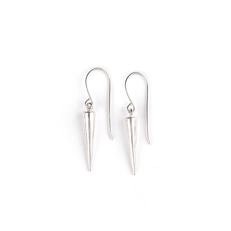Silver hanging cone earrings - Goldy jewelry store