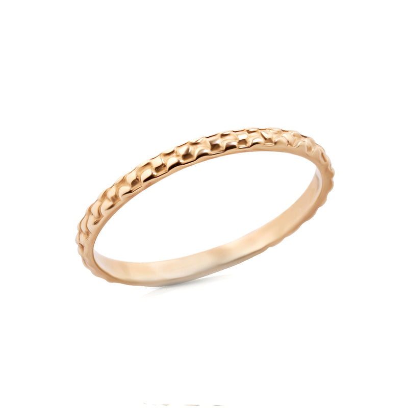 14k gold thin ring - Goldy jewelry store