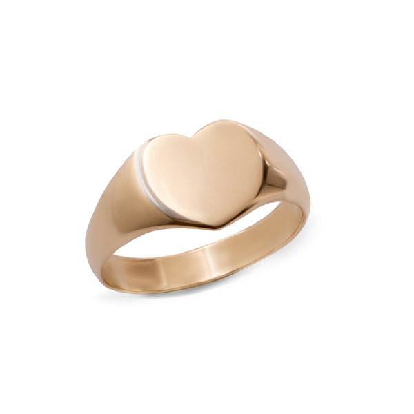 14k GOLD big heart ring - Goldy jewelry store