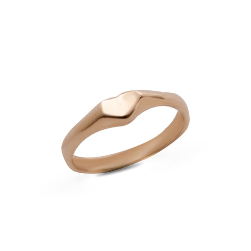 14k gold small heart ring