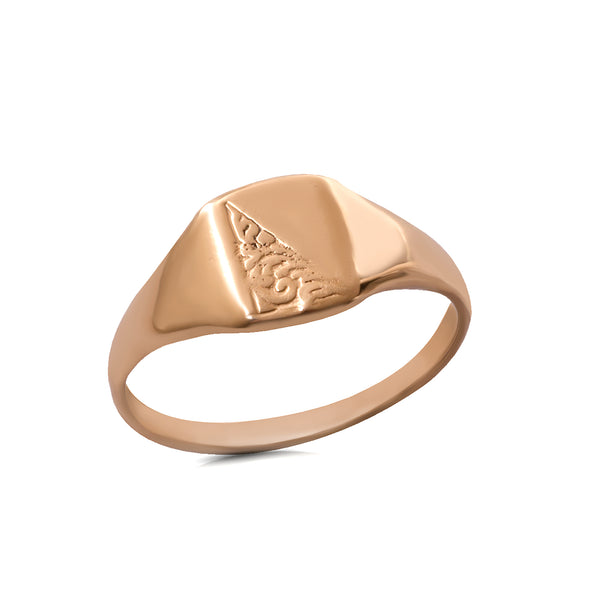 14k gold signet ring - Goldy jewelry store