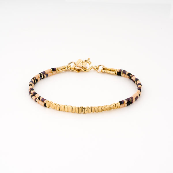 2 lines bracelet gold plated - Goldy jewelry store