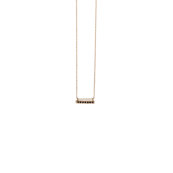 14K GOLD necklace with black diamonds pendant - Goldy jewelry store