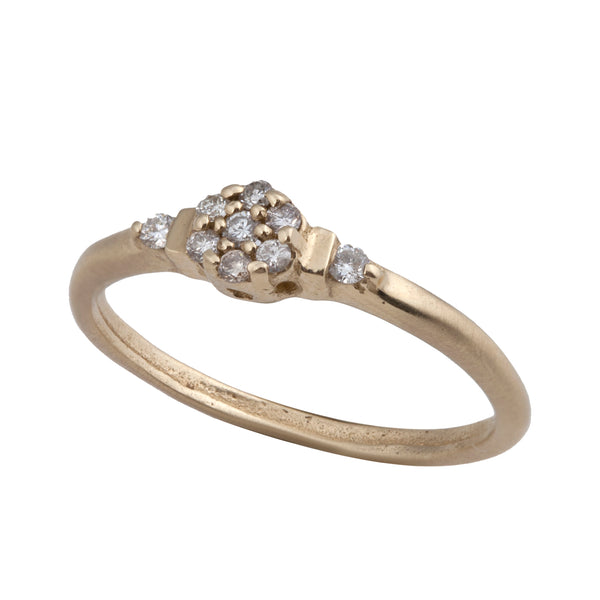 14K gold ring with diamonds - Goldy jewelry store