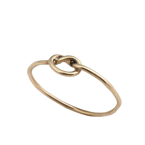 14K knot ring
