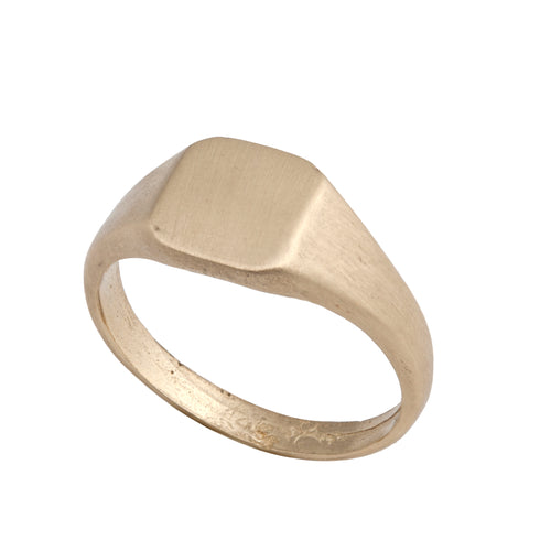 14K gold Seal ring