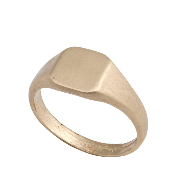 14K gold Seal ring - Goldy jewelry store