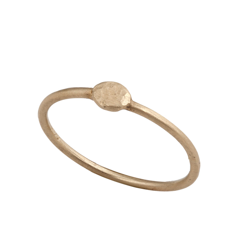 14K gold ring with Gold point - Goldy jewelry store