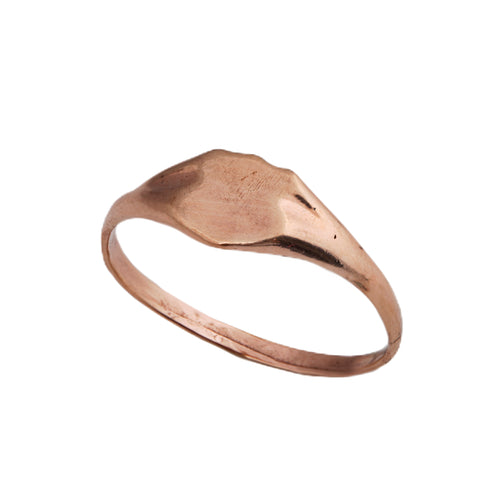 14K rose gold Seal ring