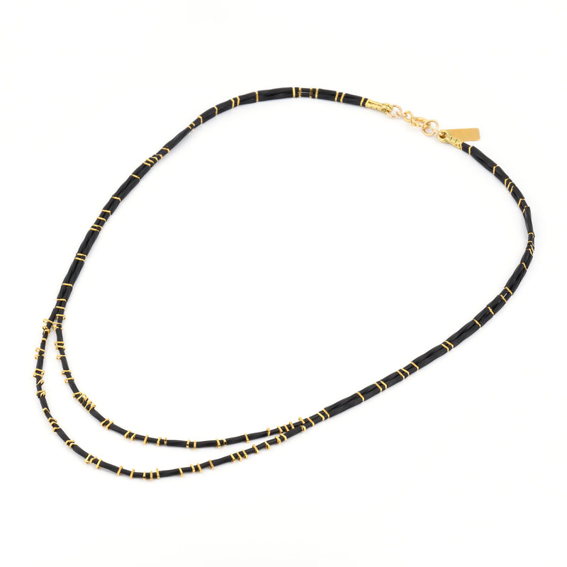 2 lines necklace