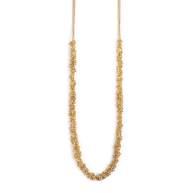 Goldfilled necklace crochet - Goldy jewelry store