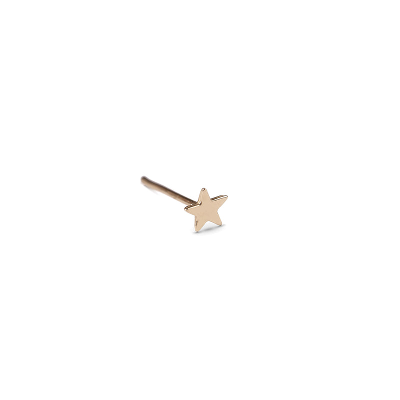 14k gold small star earrings - Goldy jewelry store