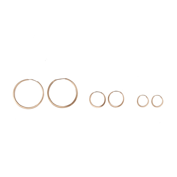 14k GOLD hoop earrings - Goldy jewelry store