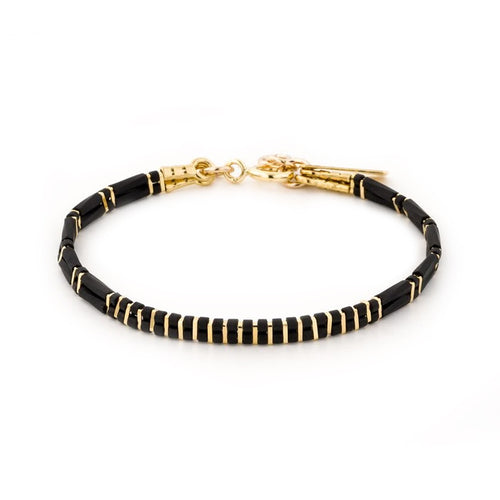 2 lines stripes bracelet gold