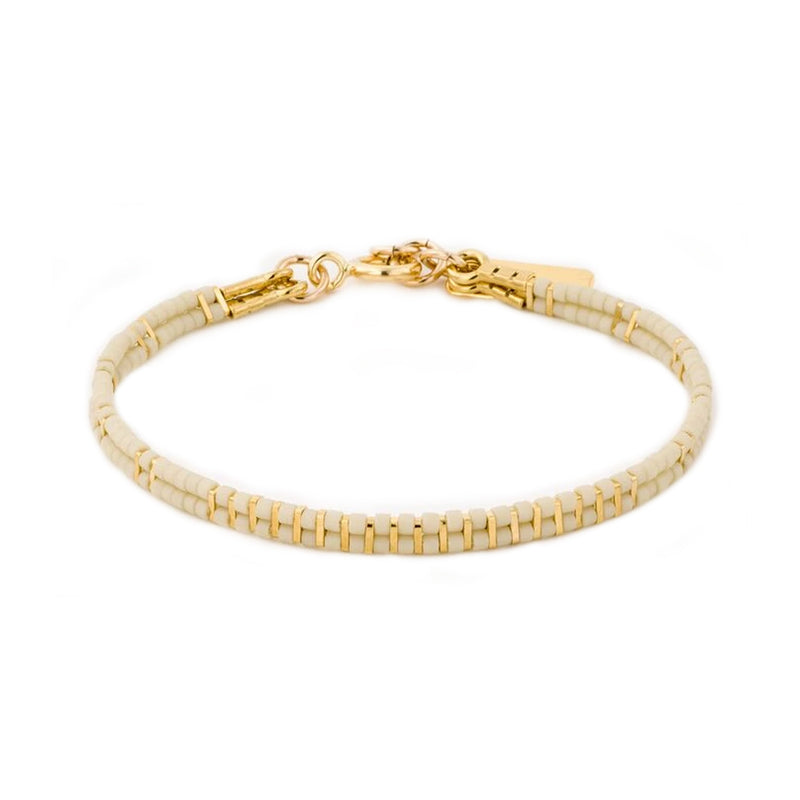 2 lines stripes bracelet gold plated - Goldy jewelry store