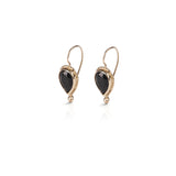 14k GOLD earring drop hanging with stone - Goldy jewelry store