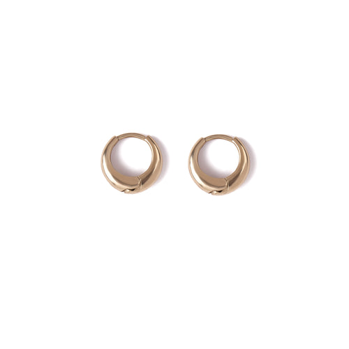 14k gold closed small hoop earrings