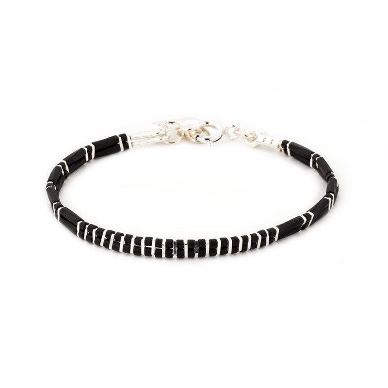2 lines stripes bracelet silver - Goldy jewelry store