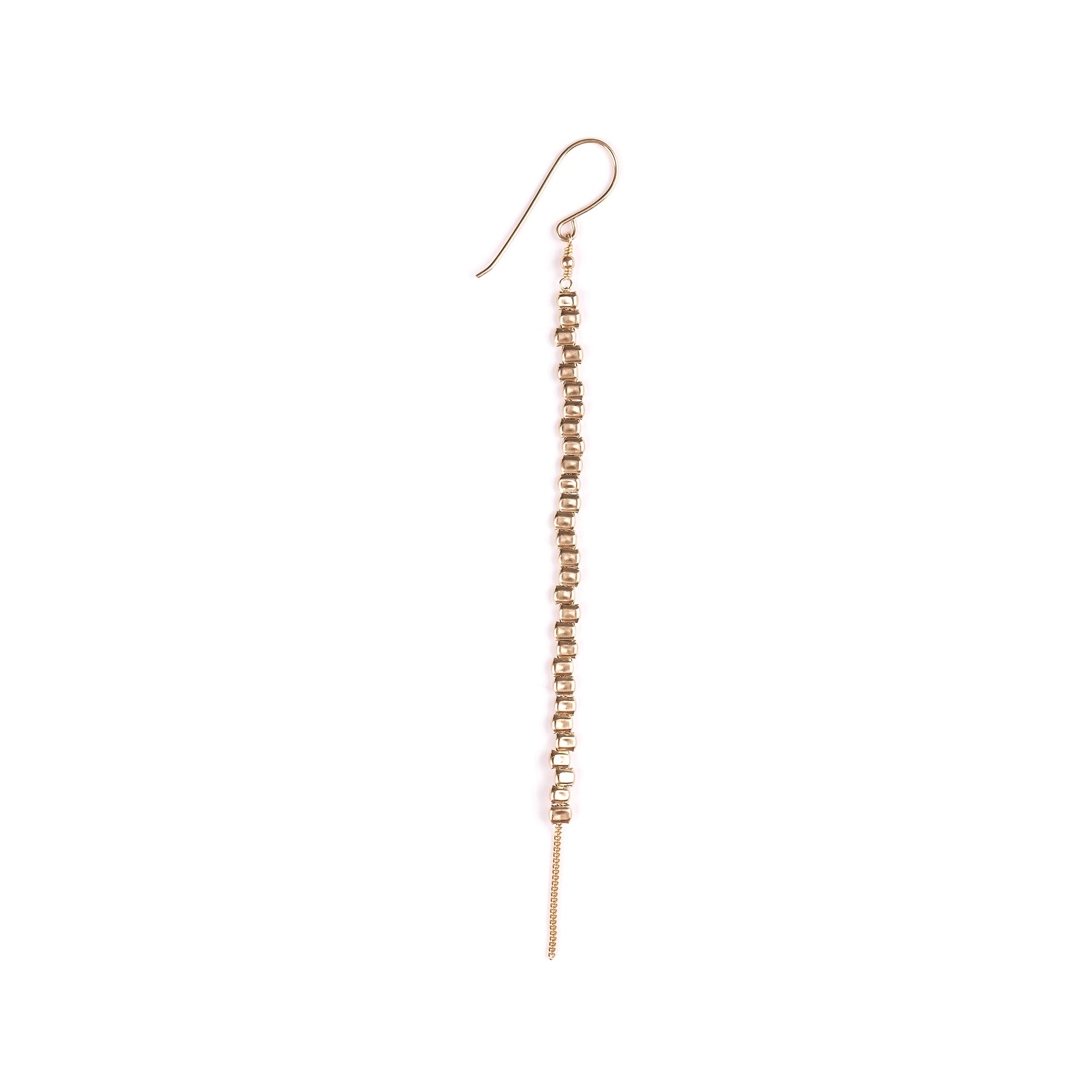 Goldfilled long hanging earrings
