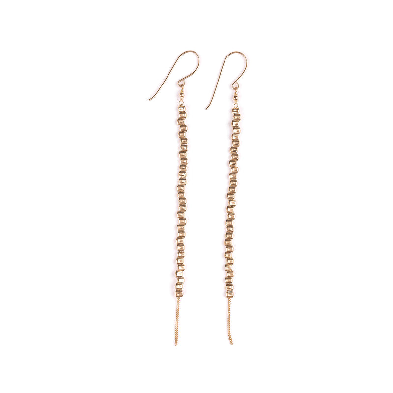 Goldfilled long hanging earrings - Goldy jewelry store