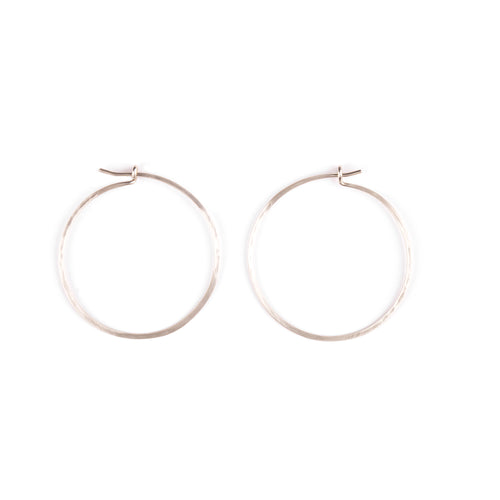 Silver big gipsy earrings