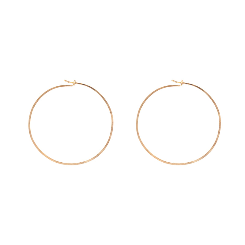 Goldfilled big hoops earrings - Goldy jewelry store