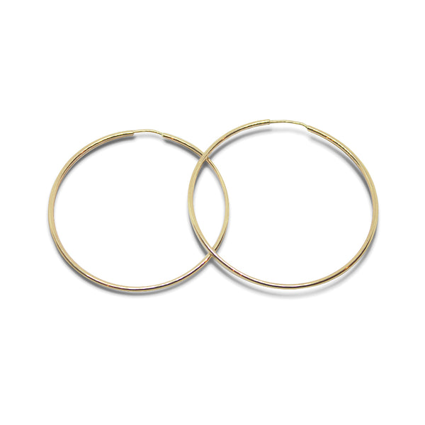 14k Gold Medium Hoops - Goldy jewelry store