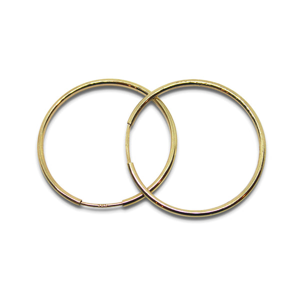14k GOLD Large Hoop Earring - Goldy jewelry store