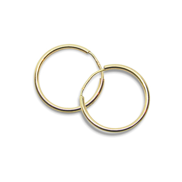 14k Gold S Hoop Earrings - Goldy jewelry store