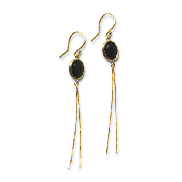 14k Gold drop Earring with Chain - Goldy jewelry store