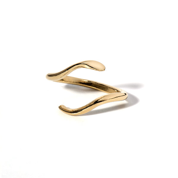 Serfent ring gold plated