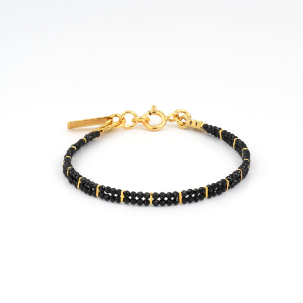 2 line spinal  bracelet gold plated