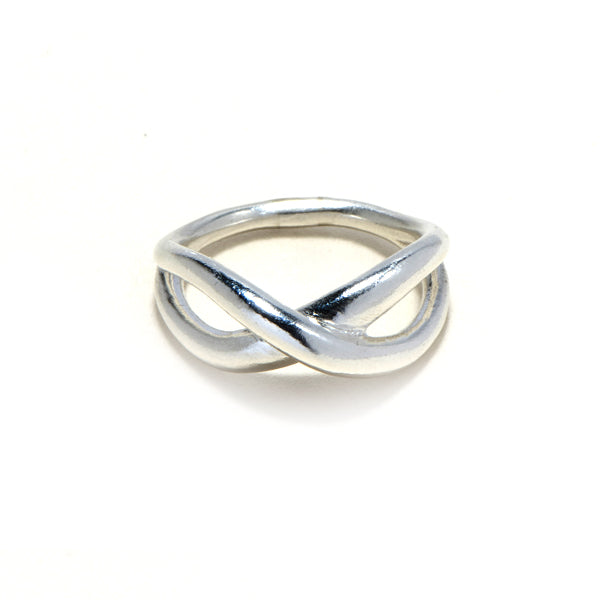 X silver/gold plated ring